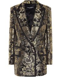 Dolce & Gabbana Metallic Silk-blend Jacquard Blazer