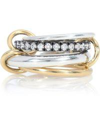 Spinelli Kilcollin Ring Janssen aus 18kt Gelbgold und Sterlingsilber mit Diamanten - Mettallic