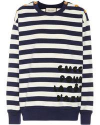 Gucci Côte D'azur Patch Sweatshirt - Blue