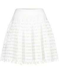 Alaïa Stretch-knit Miniskirt - White