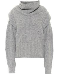 Isabel Marant Poppy Cashmere And Wool Jumper - Grey