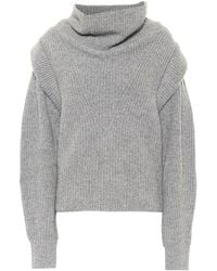 Isabel Marant Poppy Cashmere And Wool Sweater - Gray