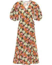 RHODE Wickelkleid Fiona aus Baumwolle - Mehrfarbig