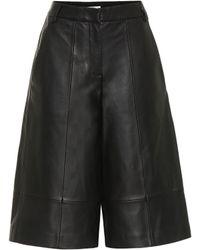 Tibi Culottes de piel - Negro