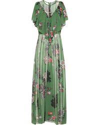 Preen By Thornton Bregazzi Irisa Floral Georgette Maxi Dress - Green