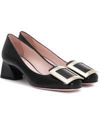 Roger Vivier Très Vivier Patent Leather Court Shoes - Black
