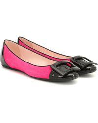 Roger Vivier Ballerinas Gommette aus Leder - Pink