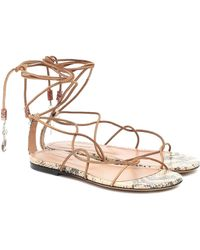 Isabel Marant Jindia Beaded Suede Sandals - Natural