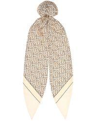 Burberry Foulard per capelli in twill di seta - Multicolore