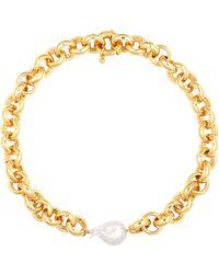Timeless Pearly Halskette mit Perle - Mettallic