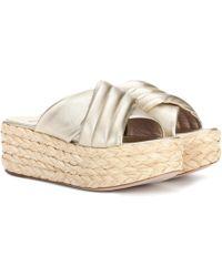 Stuart Weitzman - Pufftopraffia Leather Platform Sandals - Lyst
