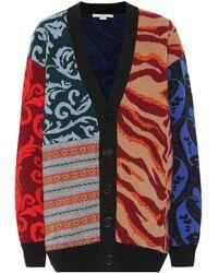 Stella McCartney Cardigan en laine à motif patchwork - Multicolore