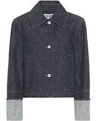 Loewe Chaqueta cropped de jeans - Azul
