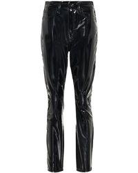 Rag & Bone Pantaloni in vinile - Nero