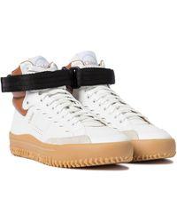 Chloé Zapatillas altas Franckie de piel - Blanco
