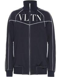 Valentino Garavani Vltn Tech Jersey Track Jacket - Blue