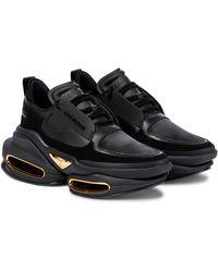 Balmain Bbold Leather Trainers - Black
