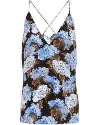Altuzarra Exclusive To Mytheresa – Hammond Floral Silk Camisole - Blue