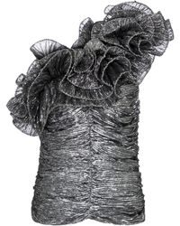 Isabel Marant One-Shoulder-Top Trudi - Mettallic