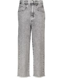 Isabel Marant High-Rise Straight Jeans Dilali - Grau
