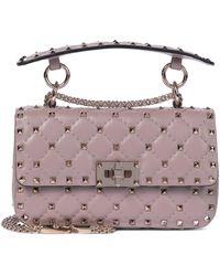 Valentino Garavani Schultertasche Rockstud Spike Small - Pink