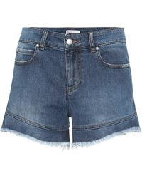 RED Valentino High-rise Denim Shorts - Blue