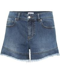 RED Valentino High-Rise Shorts aus Denim - Blau
