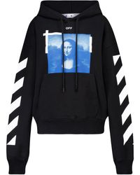 Off-White c/o Virgil Abloh Printed Cotton Hoodie - Black