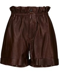 Polo Ralph Lauren Shorts aus Leder - Braun