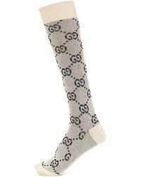 Gucci GG Knit Socks - Natural
