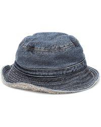 Ganni Sombrero de pescador de jeans - Azul