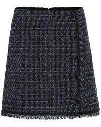 Veronica Beard Minirock Mirabelle aus Tweed - Blau