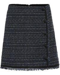 Veronica Beard Mirabelle Tweed Miniskirt - Blue
