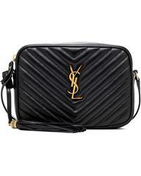 Saint Laurent Lou Leather Camera Bag - Black