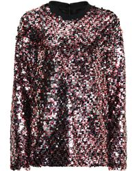 McQ - Sequinned Top - Lyst