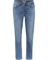 7 For All Mankind Asher Mid-rise Cropped Jeans - Blue