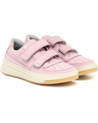 Acne Studios Sneakers Steffey aus Nubukleder - Pink