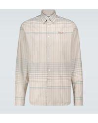 Lanvin Camisa de algodón de cuadros - Multicolor
