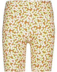 Tory Sport Short cycliste à fleurs - Multicolore