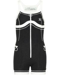 Off-White c/o Virgil Abloh Stretch-jersey Bodysuit - Black