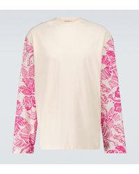 Marni Sudadera con mangas estampadas - Rosa
