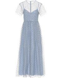 RED Valentino Embellished Tulle Midi Dress - Blue