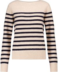 Vince Striped Cashmere Sweater - Natural