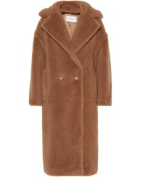 Max Mara Teddy Bear Icon Camel Hair And Silk Coat - Brown