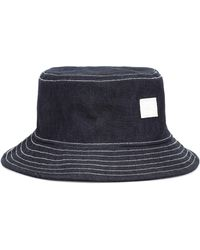 Acne Studios Face Denim Bucket Hat - Blue