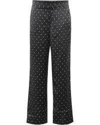 Asceno Pyjama-Hose aus Seide - Schwarz