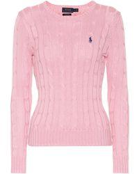Polo Ralph Lauren - Pull en maille torsadée - Lyst