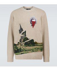 Undercover Pullover aus einem Wollgemisch - Natur