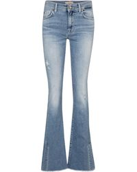 7 For All Mankind Mid-Rise Bootcut Jeans - Blau