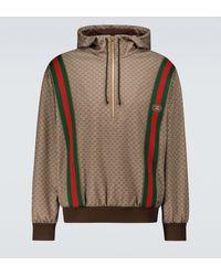 Gucci Hoodie Mini GG aus Jersey - Mettallic
